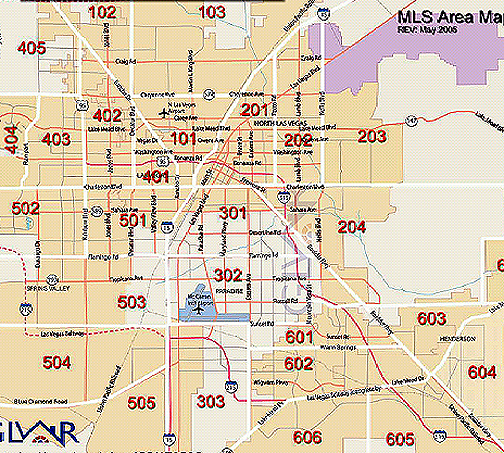 las vegas MLS area code maps